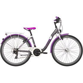 s'cool chiX 26 21-S steel Kinder darkgrey/violett